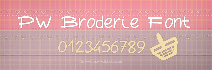 PWBroderie Font poster