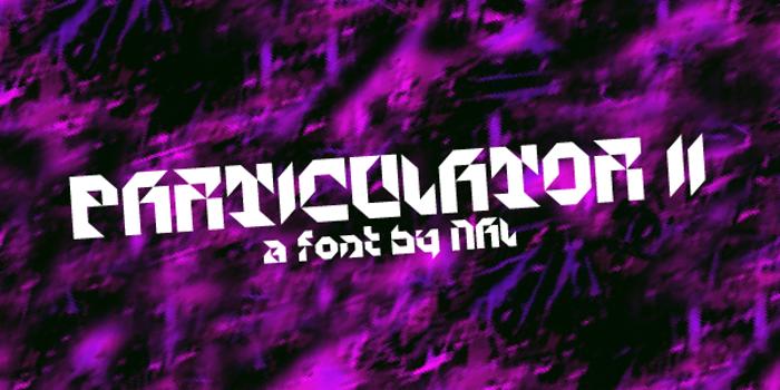 Particulator II Font poster