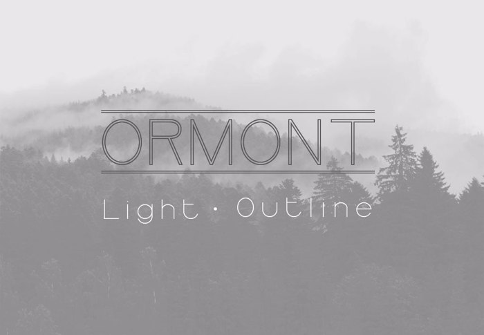 Ormont Font poster