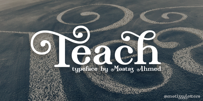 Teach Demo Font poster