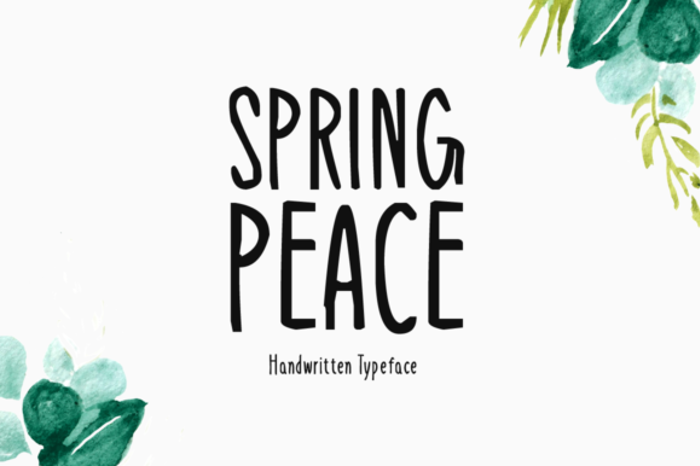 Spring Peace Font poster