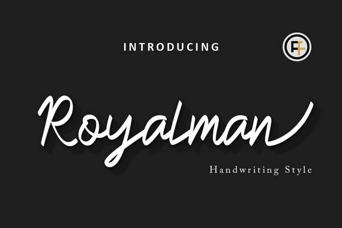 Royalman Font poster
