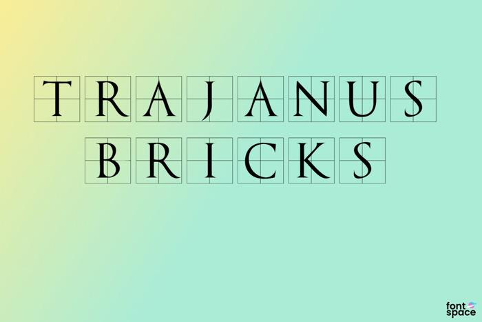 Trajanus Bricks Font poster