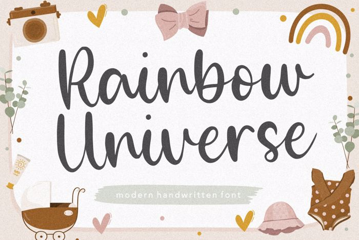 Rainbow Universe Font poster