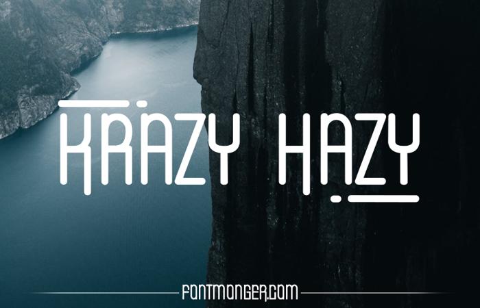 Krazy Hazy Font poster