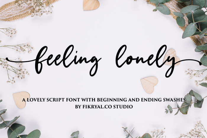 feeling lonely Font poster