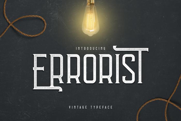 Errorist Font poster