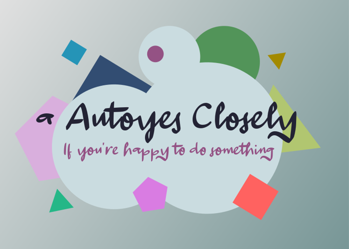 a Autoyes Closely Font poster