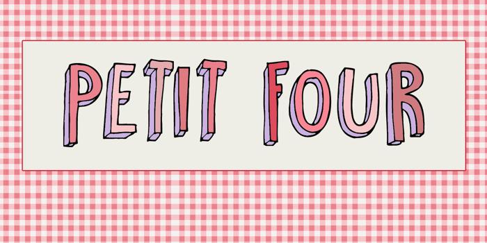 DK Petit Four Font poster