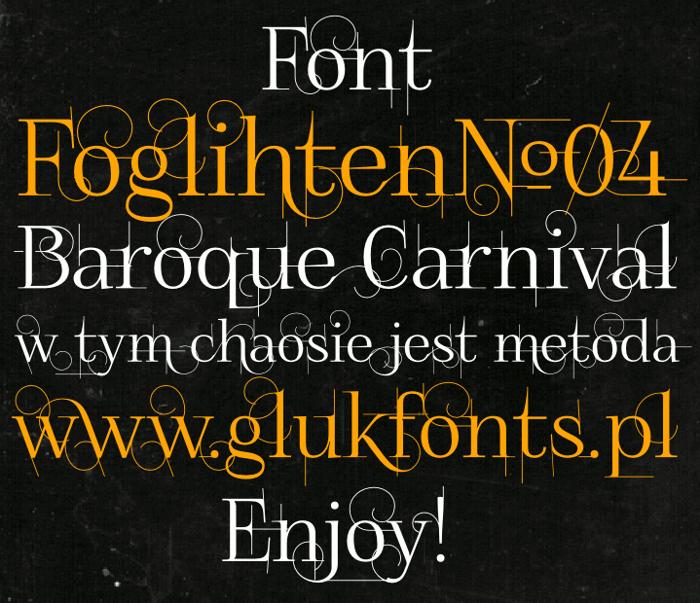 FoglihtenNo04 Font poster