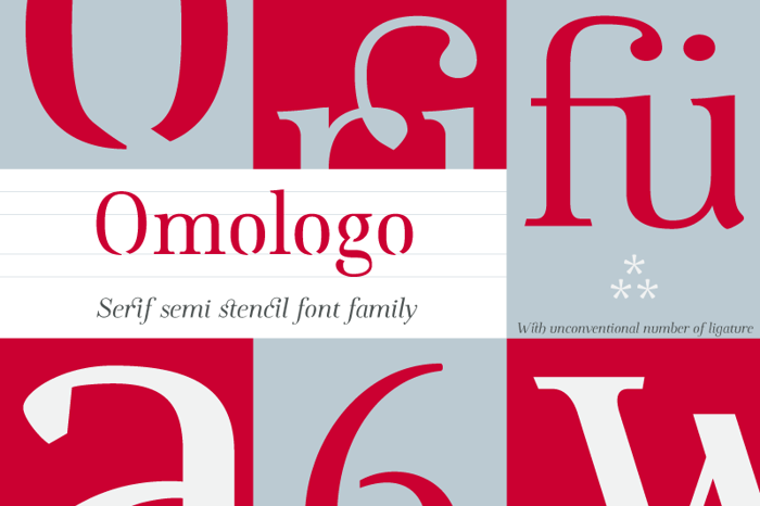 Omologo Personal Font poster