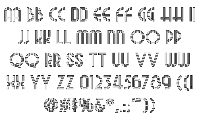 Night At The Opera NF Font poster