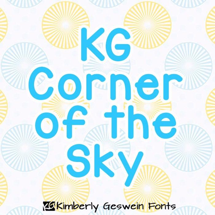 KG Corner of the Sky Font poster