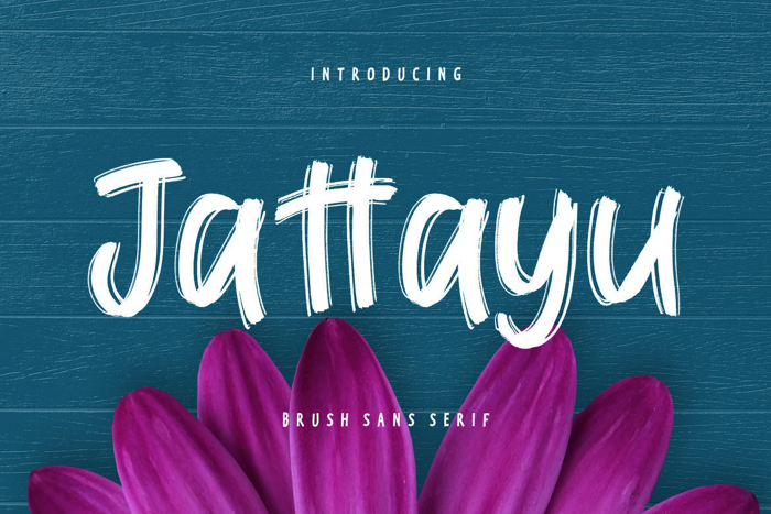 Jattayu Sans Serif Brush Font poster