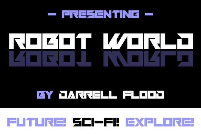 Robot World Font poster