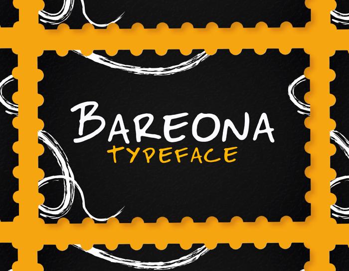 Bareona Font poster