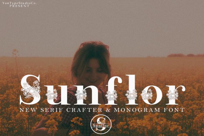 Sunflorcrafter Font poster