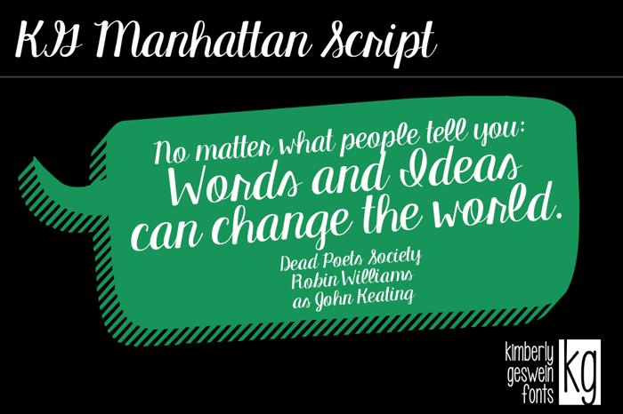 KG Manhattan Script Font poster