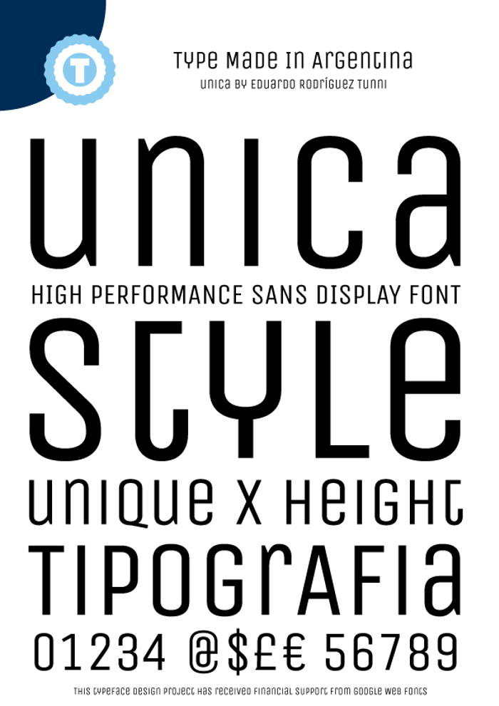 Unica One Font poster