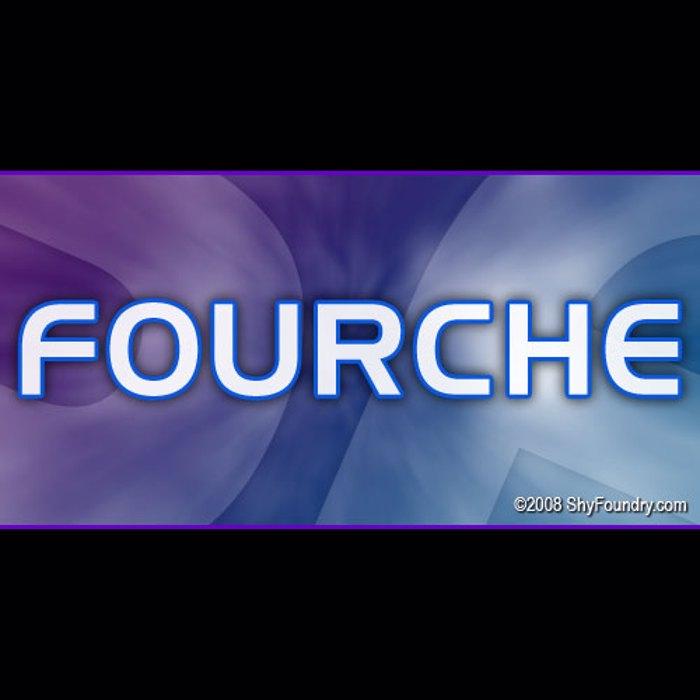 SF Fourche Font poster