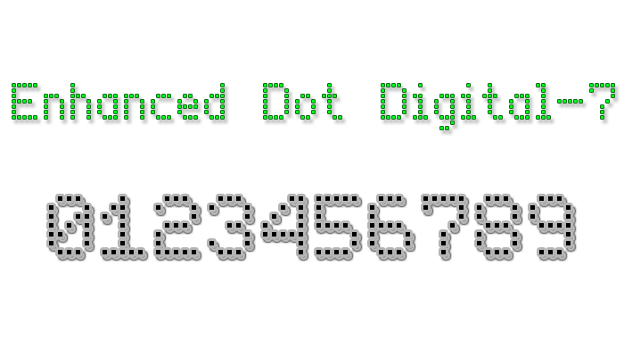 Enhanced Dot Digital-7 Font poster