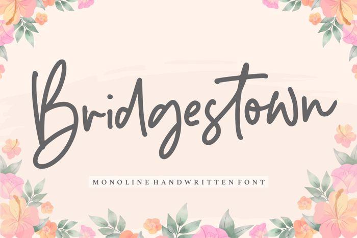 Bridgestown Font poster