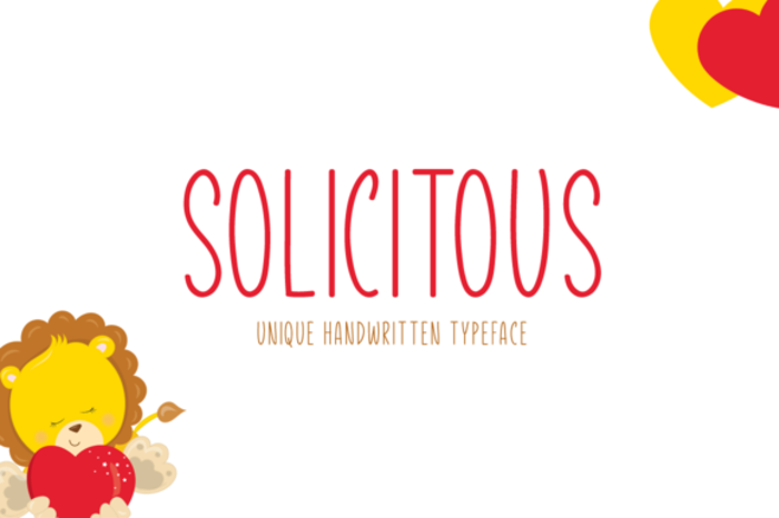 Solicitous Font poster