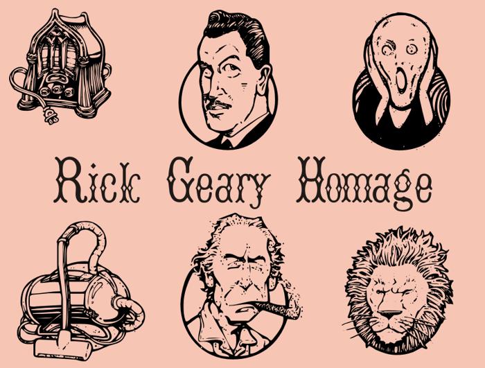 RickGearyHomage Font poster