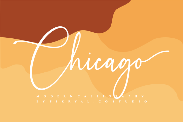 Chicago Font poster