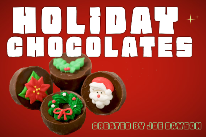 Holiday Chocolate Font poster