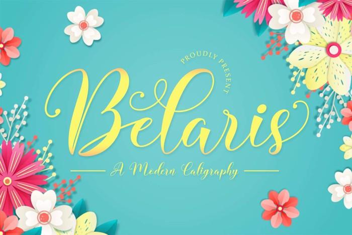 Belaris - Modern Calligraphy Font poster