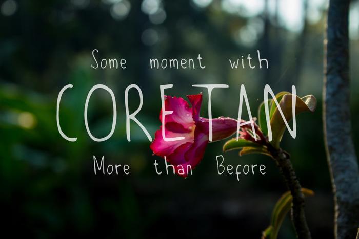 Coretan Font poster