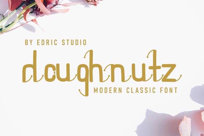 Doughnutz Font poster