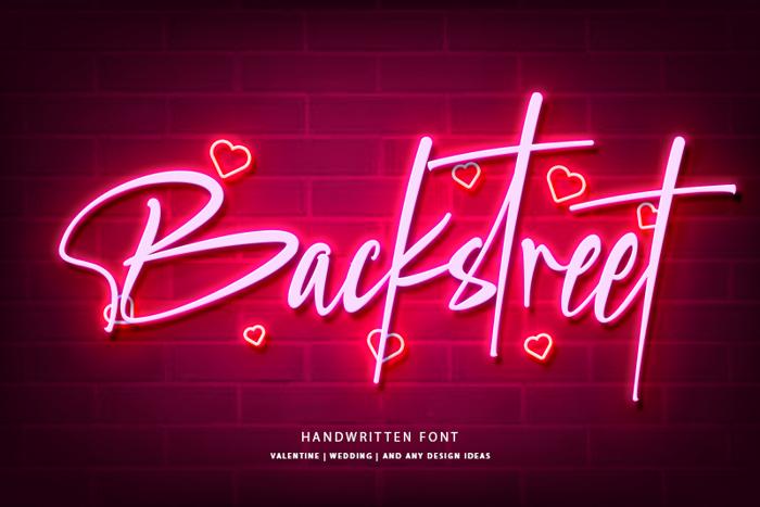 Backstreet Font poster