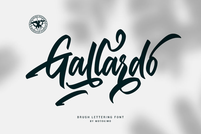 Gallardo Font poster