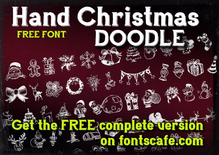 Hand Christmas Doodle Font poster