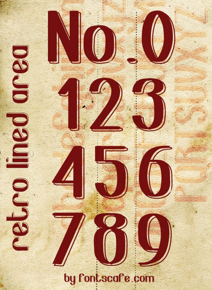 retro lined area Font poster