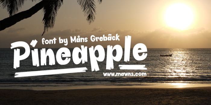 Pineapple Demo Font poster