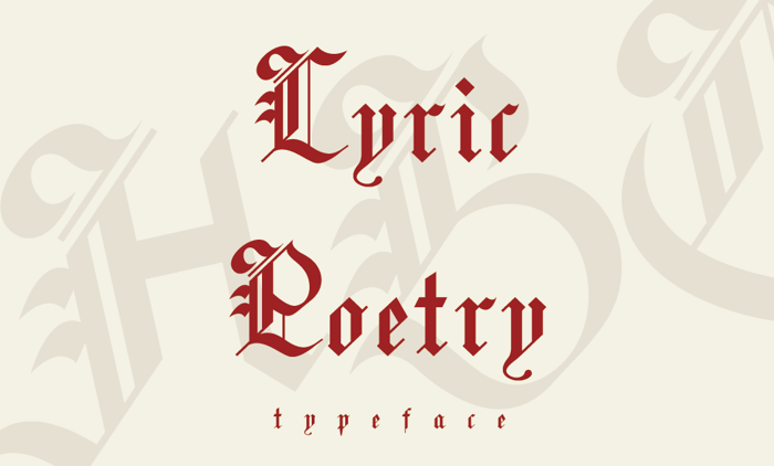 Lyric Poetry Font poster