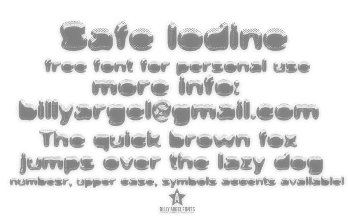 Safe Iodine Font poster