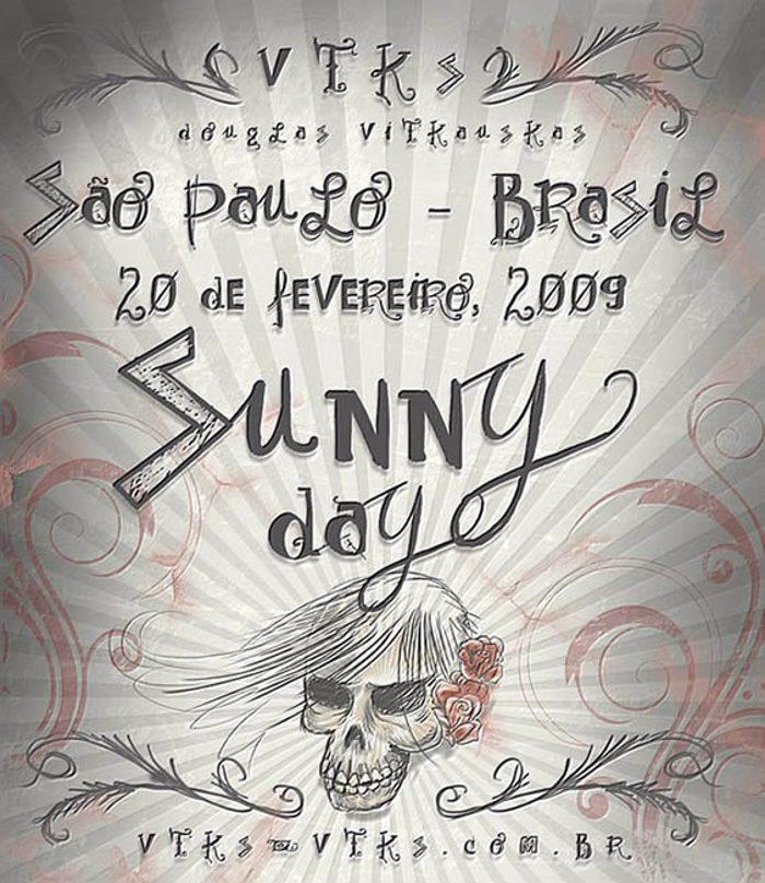 Vtks Sunny Day Font poster