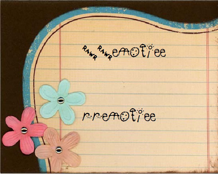 RREmotiee Font poster