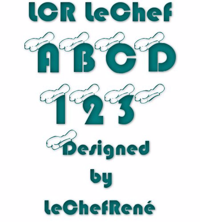 LCR LeChef Font poster