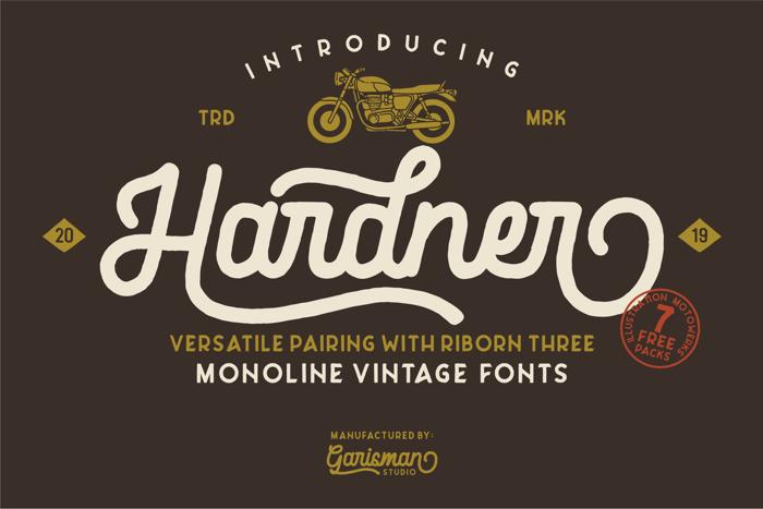 Hardner Font poster
