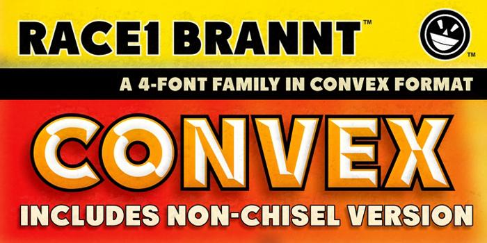 RACE1 Brannt NCV Font poster