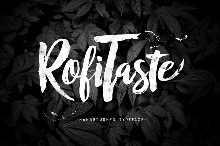 RofiTaste Font poster