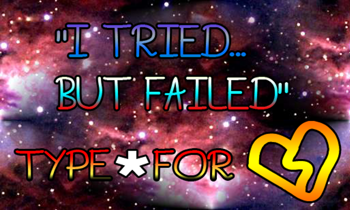 I Tried.. But Failed Font poster