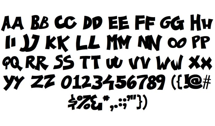 Ka-Pow! Font poster