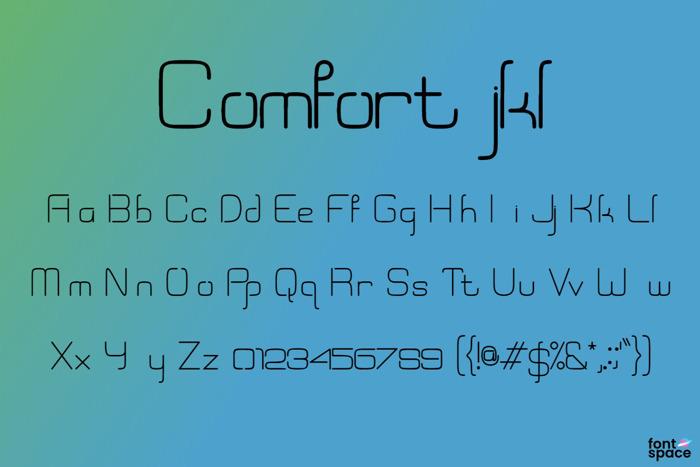 Comfort jkl Font poster