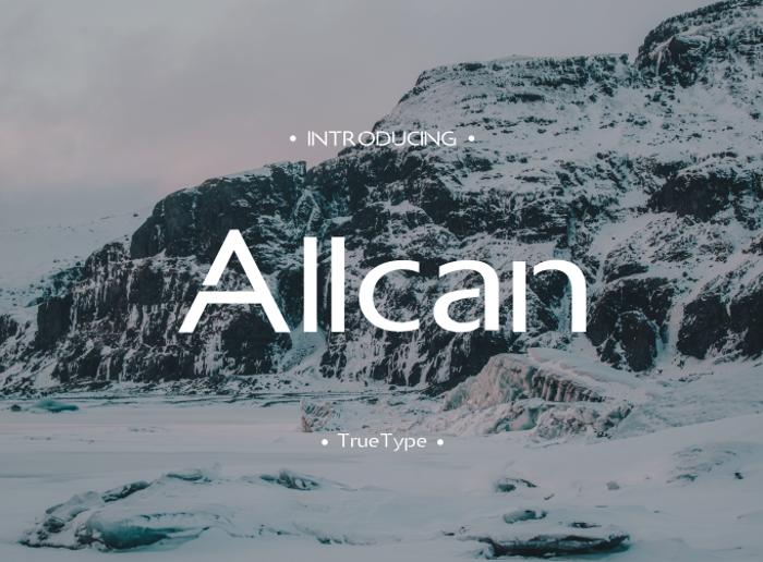Allcan Font poster